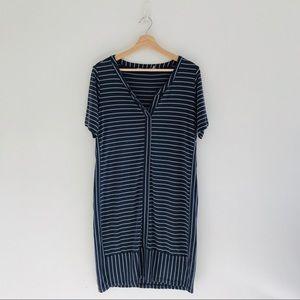 Athleta Midi Striped Dress Sz M